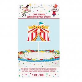 Topper Tartas y Cupcakes Circo