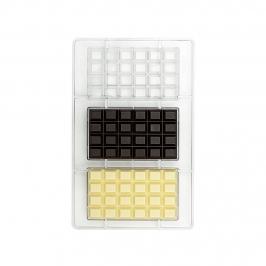 Molde Policarbonato Tabletas de Chocolate Clásicas