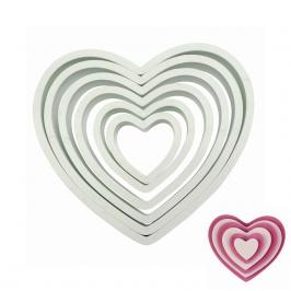 Juego de 6 Cortadores Corazón PME