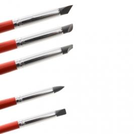 Kit de 5 Pinceles para Modelar de Silicona Nº 6