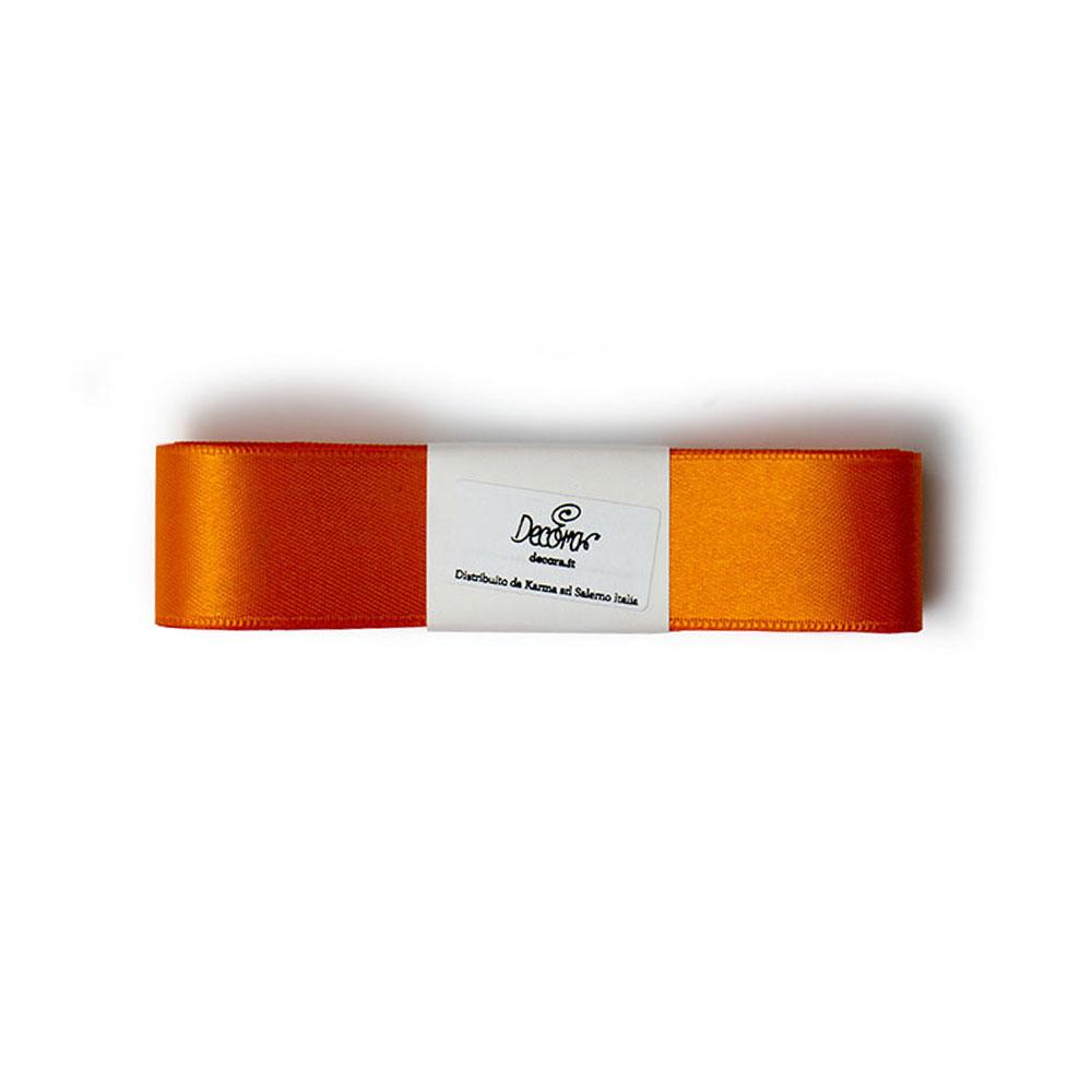 Cinta de Raso Doble Naranja 25 mm x 3 metros
