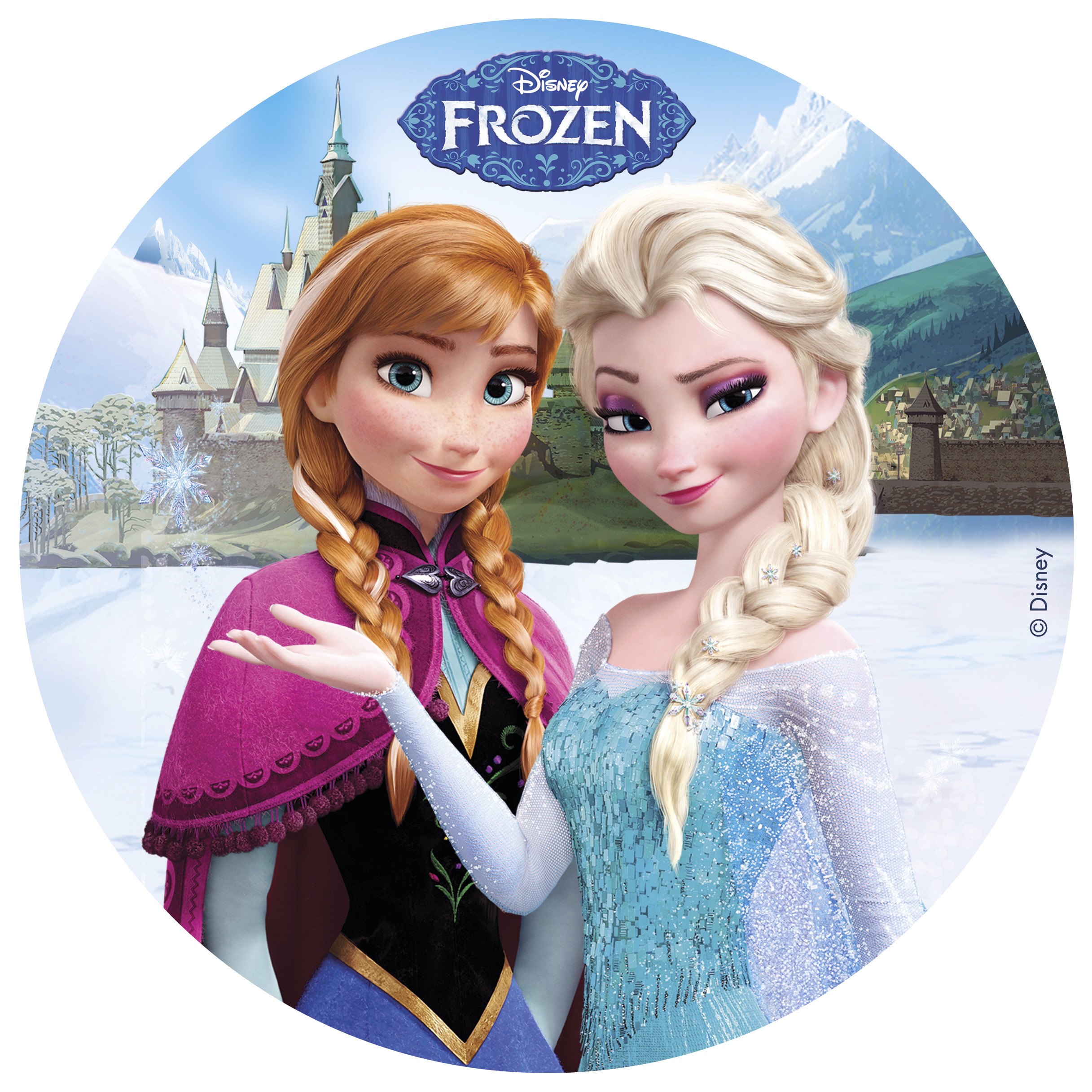 oblea frozen anna y elsa my karamelli. Black Bedroom Furniture Sets. Home Design Ideas