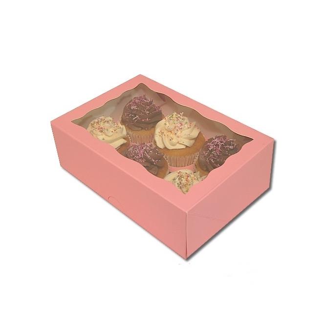 Caja cupcakes 6 uds. Color Rosa