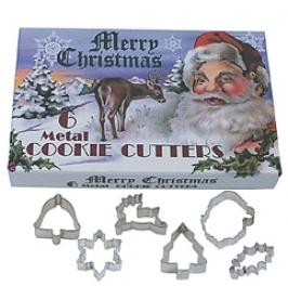 Set de 6 Cortadores Navidad