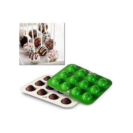Cake pops baking pan verde Nordic Ware