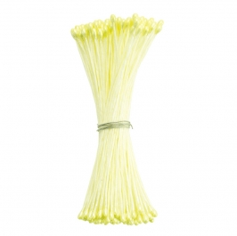 Estambres para flores amarillo perlado