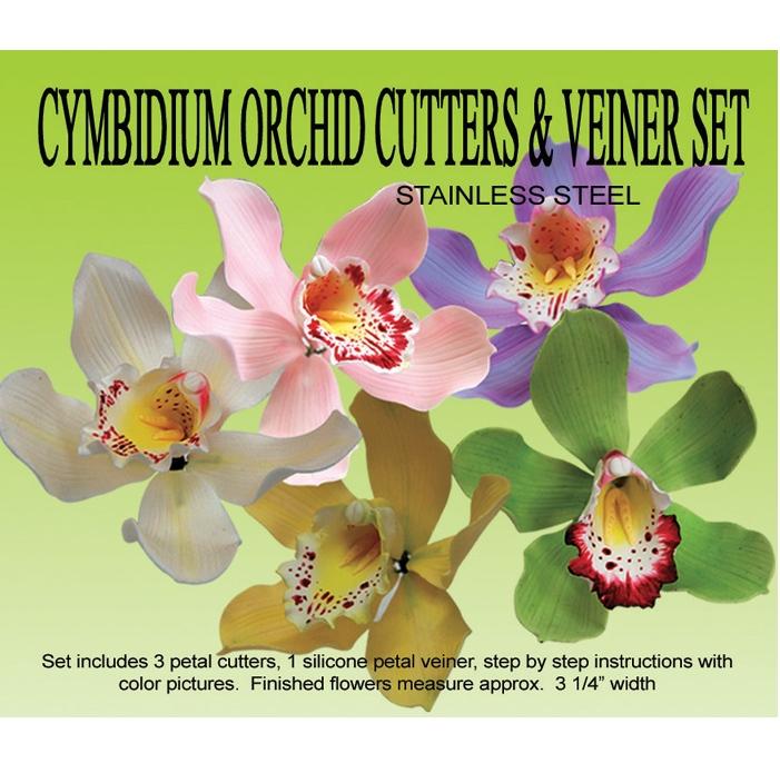 Kit orquidea Cymbidium: cortadores y marcador