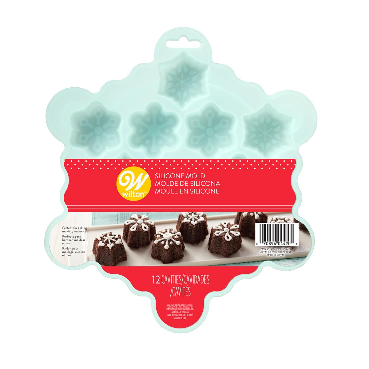 Molde Silicona Mini Copos de Nieve