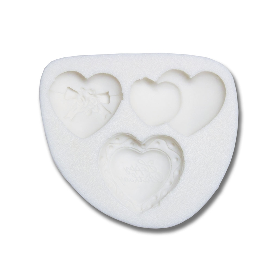 Molde de silicona corazones