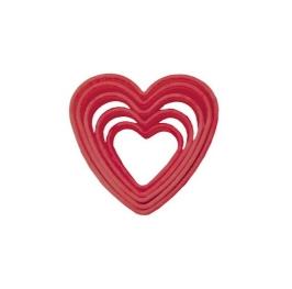 Set de 5 cortadores forma de corazón