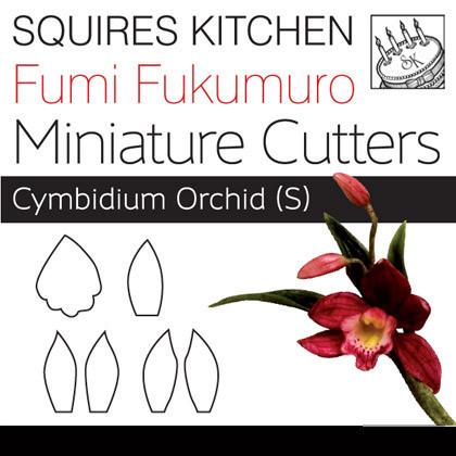 Set de 3 mini cortadores de Orquidea