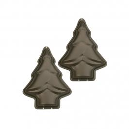 Set 2 mini moldes árbol de navidad