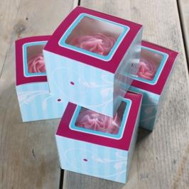 Pack de 4 cajas para 1 Cupcake Elegance