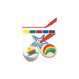 Set 5 Rotuladores comestibles colores primarios