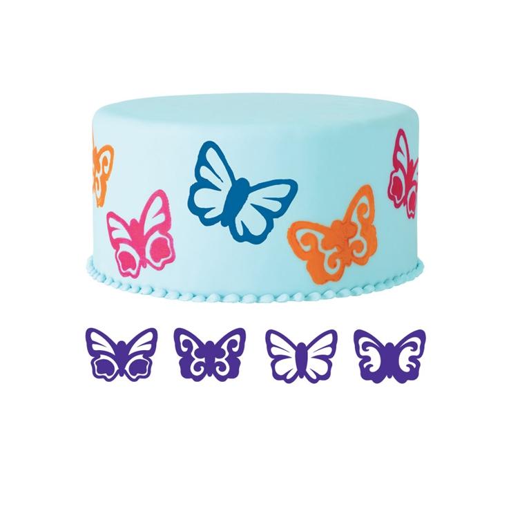 Set de 4 sellos Mariposa Wilton