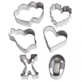 Set de 6 mini cortadores Valentine de Wilton