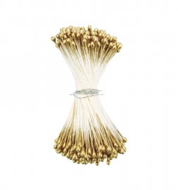 Estambres para flores Medium Round Gold