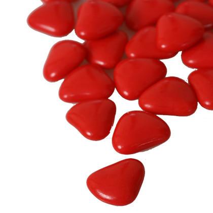 Corazones Color Rojo Rubí Con Centro De Chocolate My Karamelli