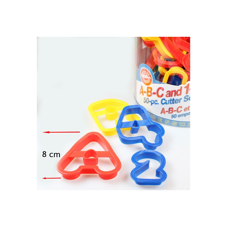 Set 50 cortadores letras & números