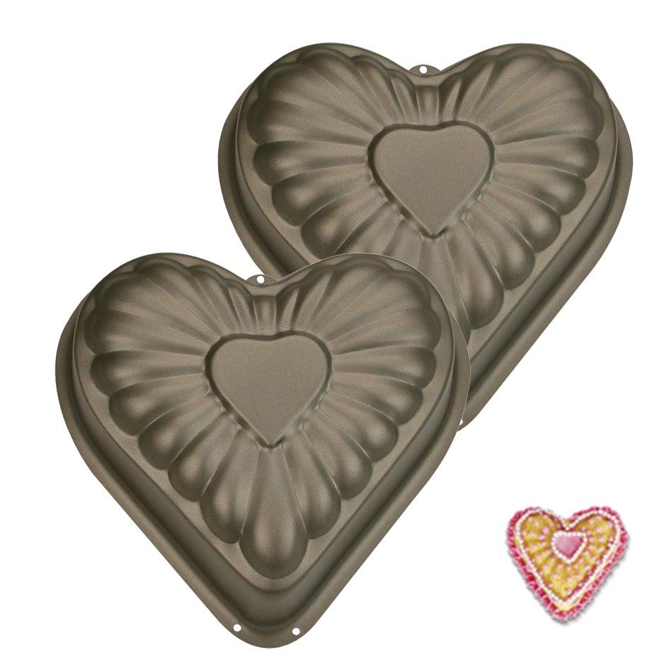 Juego de 2 mini moldes Corazón