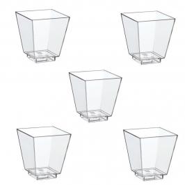 Vasos Cuadrados Transparentes 50 ml 50 Ud.