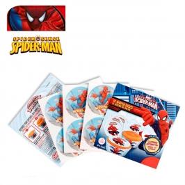 Juego de 12 obleas para Cupcakes Spiderman