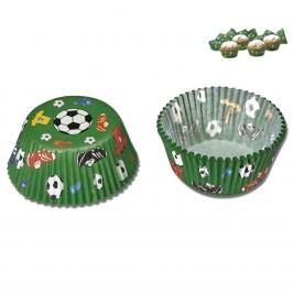 Mini Cápsulas para Cupcakes Football Städter