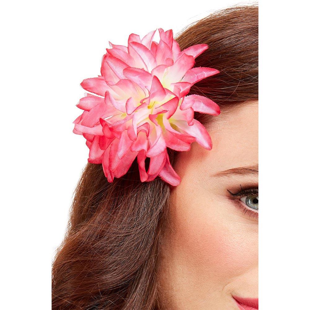 Clip para el Pelo Flor Hawaiana Rosa