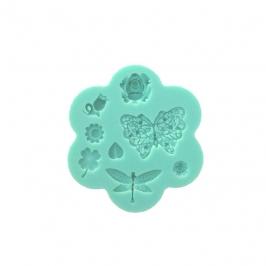 Molde de Silicona Mariposa y Flores