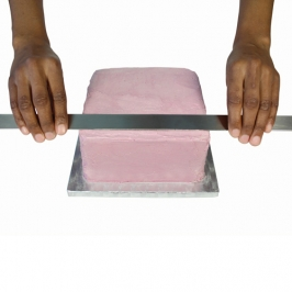 Regla de acero para Glaseado o Merengue PME