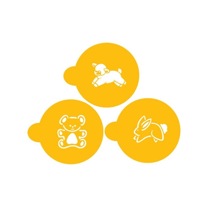 Set 3 Stencils Baby animals