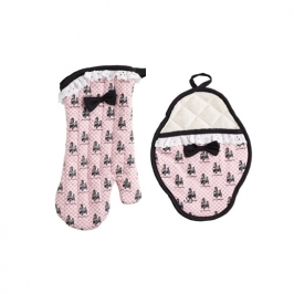 Set guantes para horno French Poodle