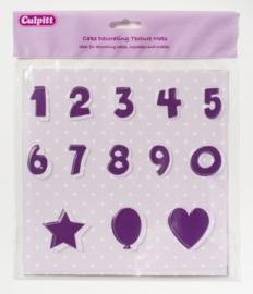 Placa texturizadora Números