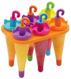 Molde para hacer helados en forma de paraguas