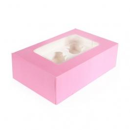 Caja para 6 cupcakes Baby Pink