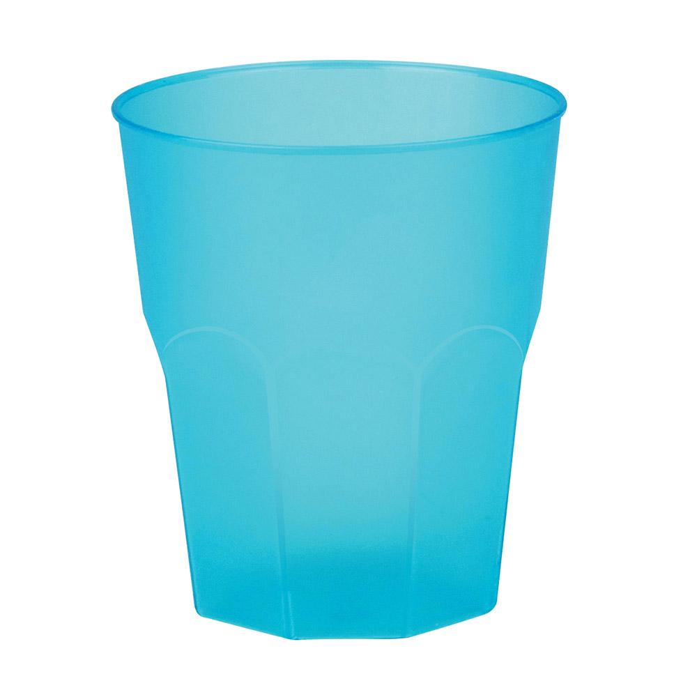 Set 6 Vasos Turquesa Plástico Reutilizable