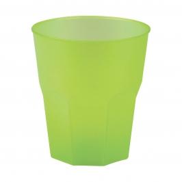 Set 6 Vasos Verdes Plástico Reutilizable