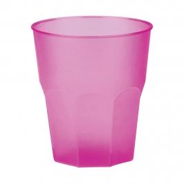 Set 6 Vasos Fucsia Plástico Reutilizable