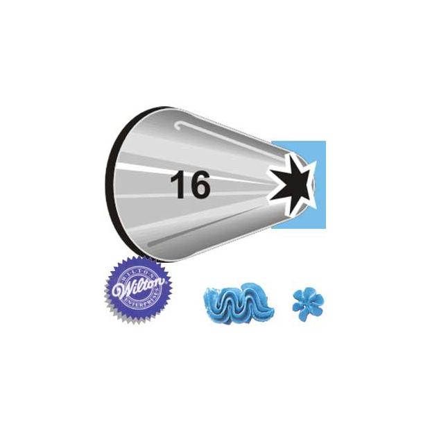 Boquilla #16 estrella abierta