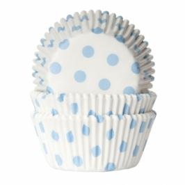 Cápsulas cupcakes Baby Blue Polka dot