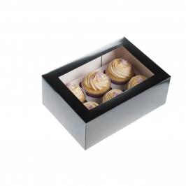 Caja cupcakes 6 uds. Color Negra