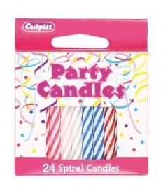 Pack 24 Velitas Multicolor en espiral