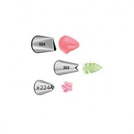 Set boquillas #104 pétalo, #352 hoja y #224 flor