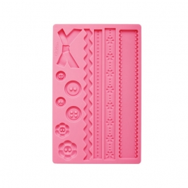 Molde silicona Wilton Fabric