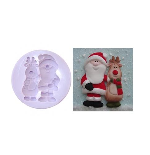 Molde Silicona Santa & Rudolph