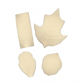 Set 4 texturizadores pétalos y hojas