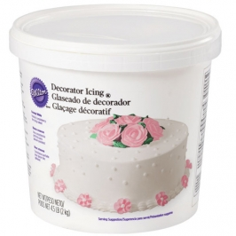 Glaseado Wilton para Decorar Blanco Cremoso 2 Kg