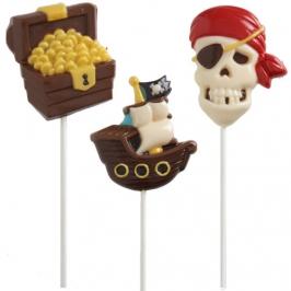 Molde para piruletas de chocolate Piratas