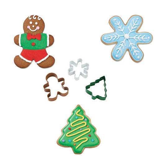 Set 3 Cortadores Happy Christmas
