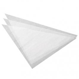 Triángulos de papel pergamino para Mangas (100 uds)